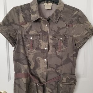Short sleeve camouflage  jacket